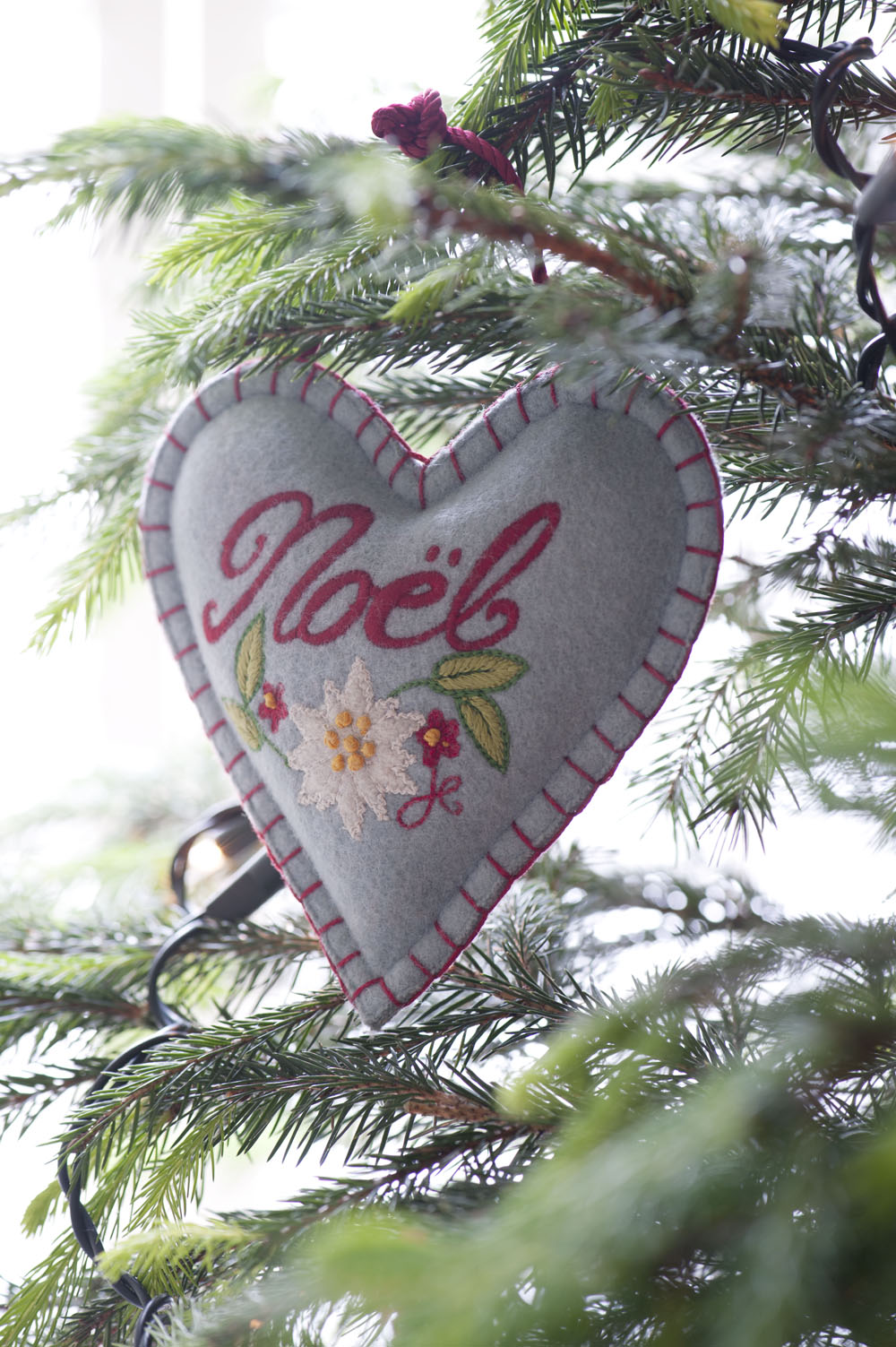 Hand embroidered Christmas decorations