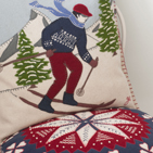 Hand embroidered Christmas cushions