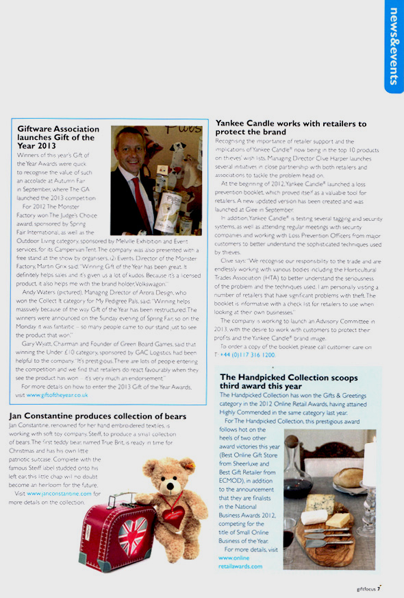 Gift Focus Magazine - November/December 2012