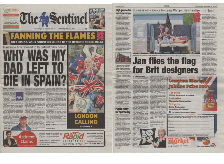 The Sentinel Front Page -May-2012