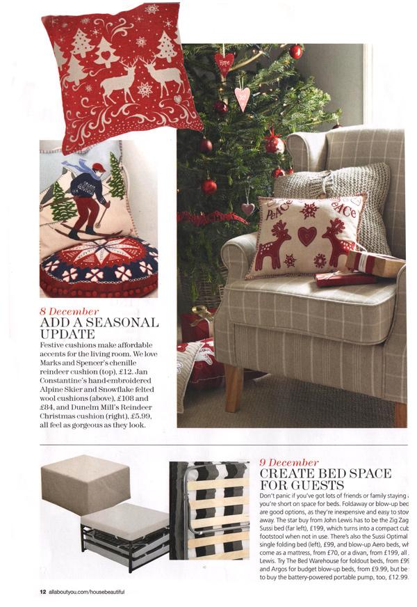 House Beautiful Christmas Ideas - December 2012