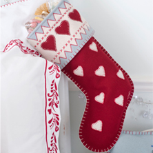 Hand embroidered Christmas stockings